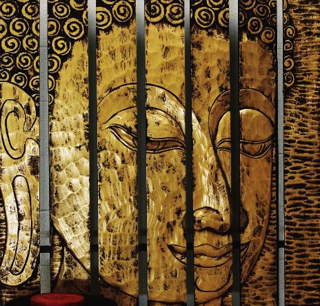 Buddha panel Buddha wall hanging