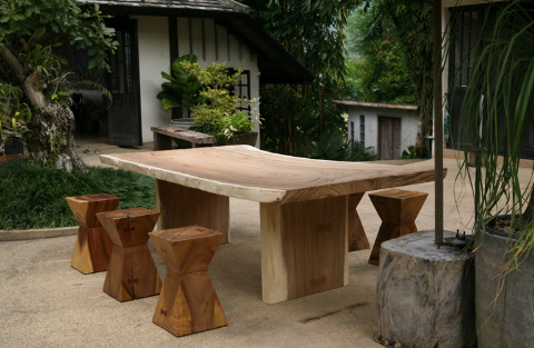 natural wood furnishings in context