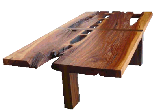 makha coffee table made from reclaimed wood