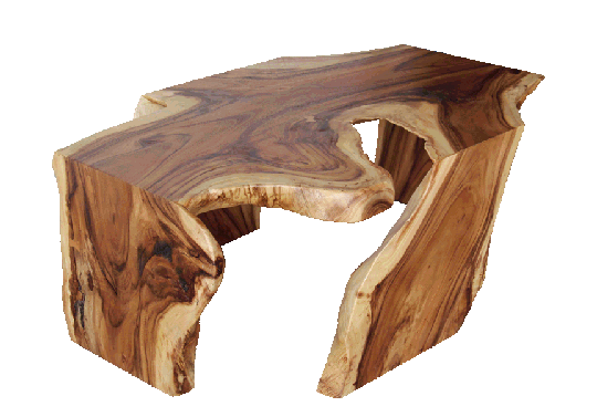 acacia coffee table with four legs