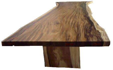 free edge or live edge dining table