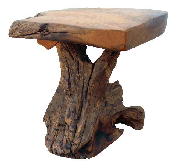 teak wood end table made with reclaimed wood