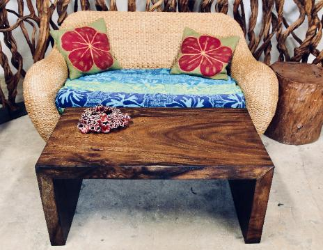 waterfall natural wood coffee table